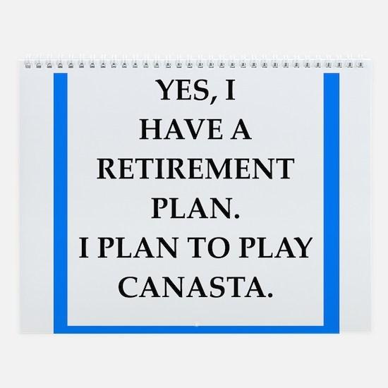 Canasta Player Wall Calendar