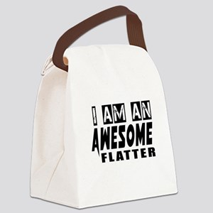 I Am Flatter Canvas Lunch Bag