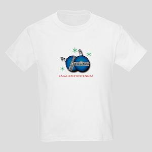 """Merry Christmas"" in Greek Kids Light T-Shirt"