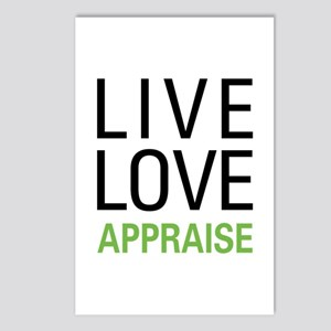 Live Love Appraise Postcards (Package of 8)