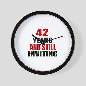 42 till Inviting Birthday Wall Clock