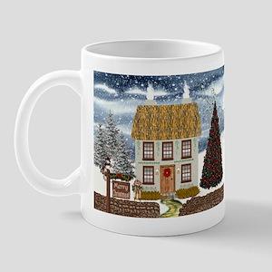 Merry Christmas Cottage Mug