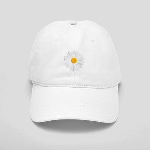 fresh white daisy Cap