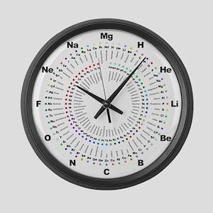 Periodic Table Clock Large Wall Clock