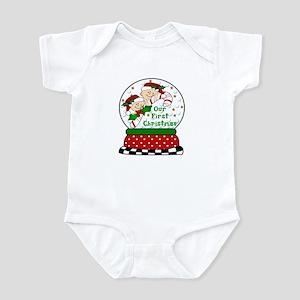 TWINS & Candy Cane Snowglobe Infant Bodysuit