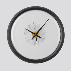 fresh white daisy Large Wall Clock