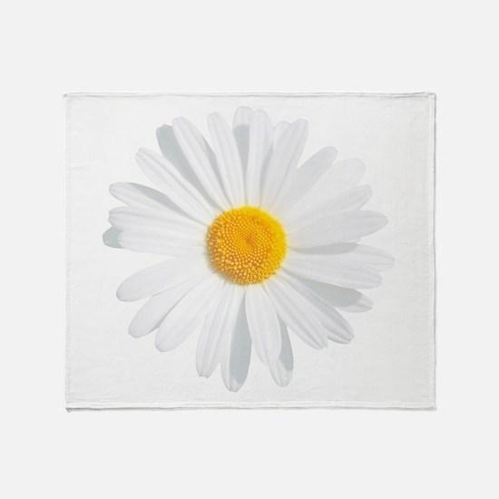 fresh white daisy Throw Blanket
