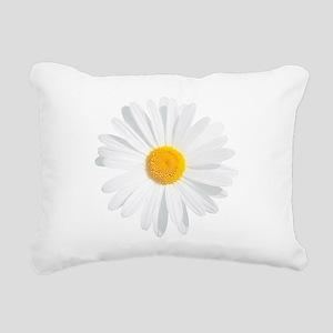 fresh white daisy Rectangular Canvas Pillow