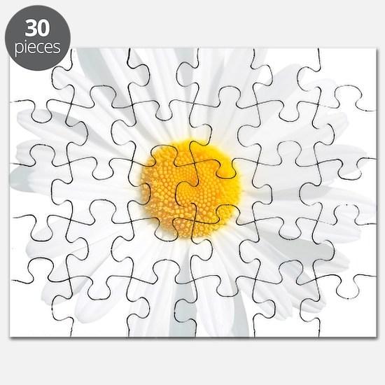 fresh white daisy Puzzle