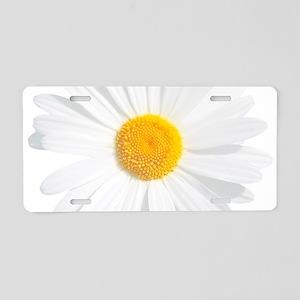 fresh white daisy Aluminum License Plate