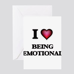 Feeling disturbed greeting cards cafepress i love being emotional greeting cards m4hsunfo