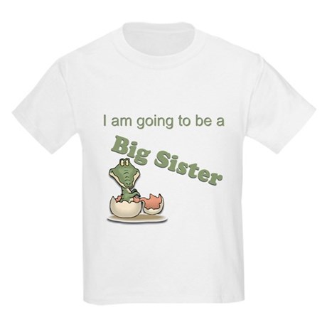 Big sister - baby alligator Kids Light T-Shirt
