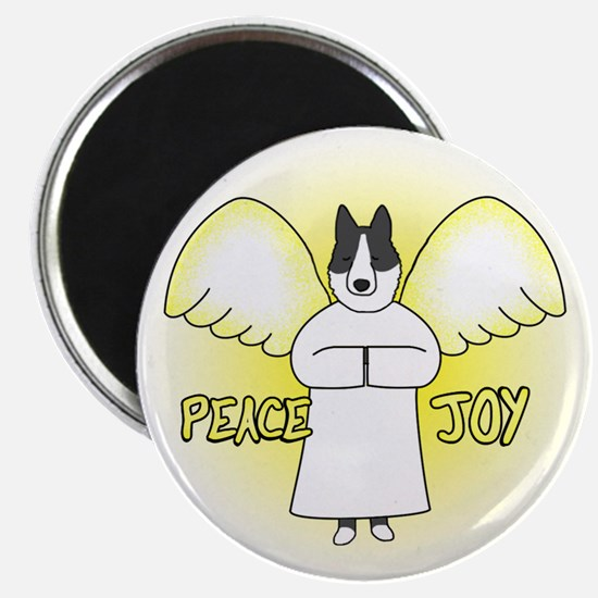 Peace Joy Karelian Bear Dog Christmas Magnet