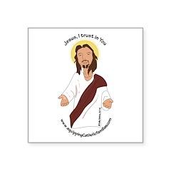 Jesus, I trust in You Sticker
