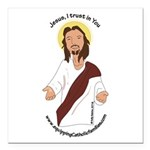 Jesus, I trust in You Square Car Magnet 3