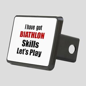 I Have Got Biathlon Skills Rectangular Hitch Cover