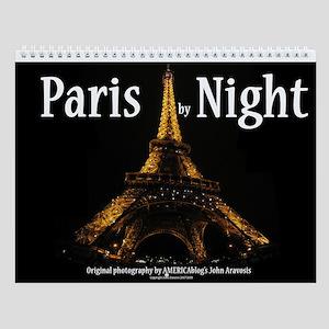 2015 Paris By Night Wall Calendar
