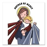 Mother of Mercy Square Car Magnet 3