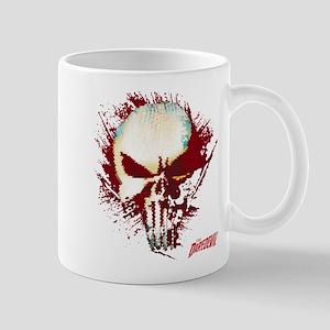 Punisher Skull Red Spatter Mug