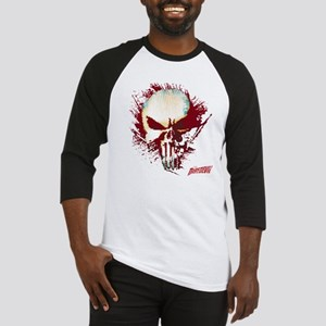 Punisher Skull Red Spatter Baseball Jersey
