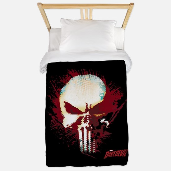 Punisher Skull Red Spatter Twin Duvet