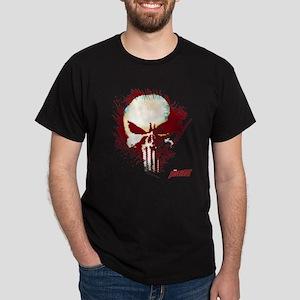 Punisher Skull Red Spatter Dark T-Shirt