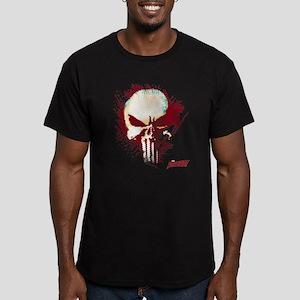 Punisher Skull Red Spa Men's Fitted T-Shirt (dark)