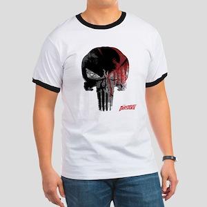 Punisher Skull Bloody Ringer T
