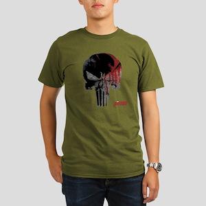 Punisher Skull Bloody Organic Men's T-Shirt (dark)