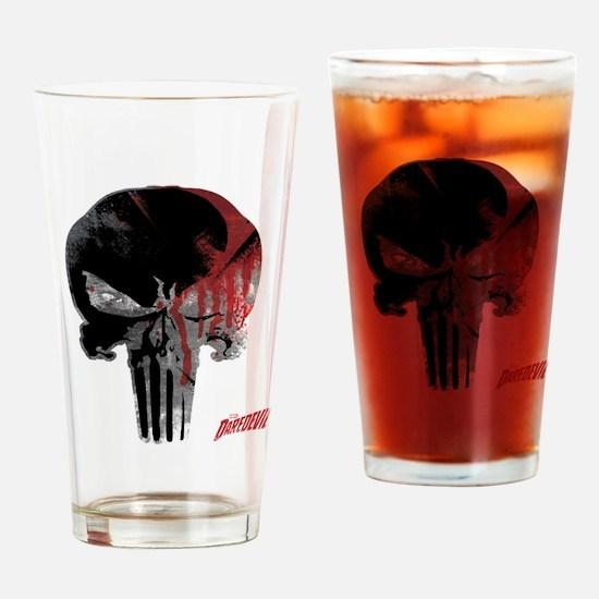 Punisher Skull Bloody Drinking Glass