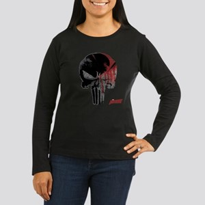 Punisher Skull Bl Women's Long Sleeve Dark T-Shirt