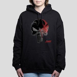 Punisher Skull Bloody Women's Hooded Sweatshirt