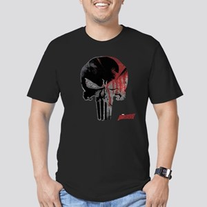 Punisher Skull Bloody Men's Fitted T-Shirt (dark)