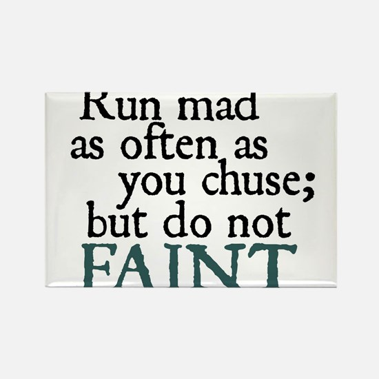 Jane Austen Run Mad Magnets
