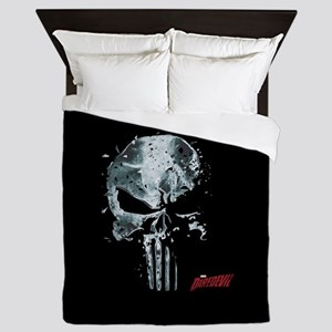 Punisher Skull Glass Queen Duvet