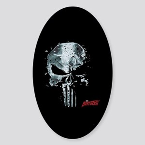 Punisher Skull Glass Sticker (Oval)