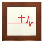 Jesus is Life Framed Tile