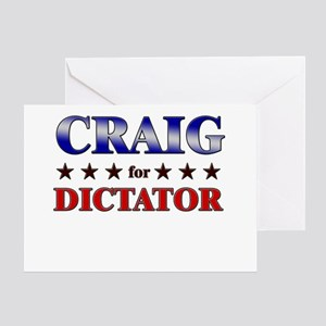 CRAIG for dictator Greeting Card