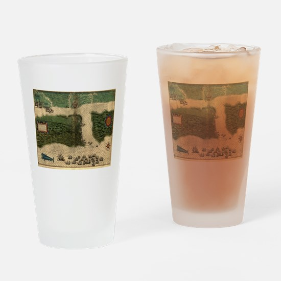 Vintage Map of St. Augustine Florid Drinking Glass