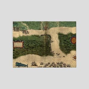 Vintage Map of St. Augustine Florid 5'x7'Area Rug