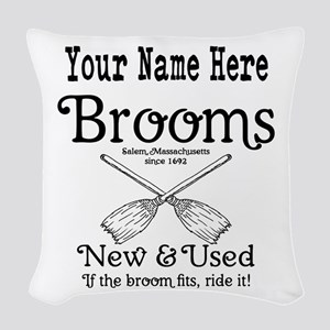 New & used Brooms Woven Throw Pillow