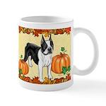 Boston Terrier Pumpkin Spice Design (cropped) Mugs