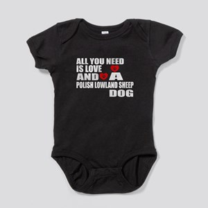 All You Need Is Love Polish Lowland Baby Bodysuit