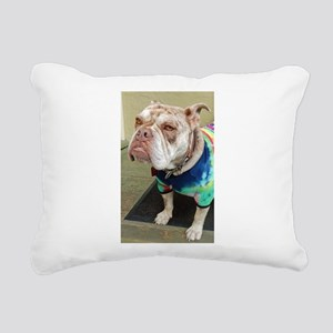 Olde English Bulldogge Rectangular Canvas Pillow