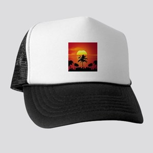 Tropical Sunset Holiday Trucker Hat