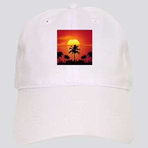 Tropical Sunset Holiday Cap