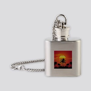 Tropical Sunset Holiday Flask Necklace