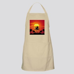 Tropical Sunset Holiday Apron