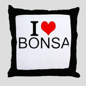 I Love Bonsai Throw Pillow