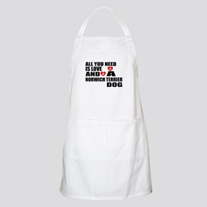 All You Need Is Love Norwich Terrier D Light Apron
